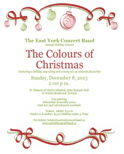 Colours of Christmas flyer